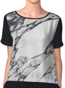 Black and White Marble Chiffon Top