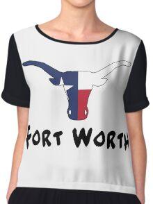 Fort Worth Texas Chiffon Top