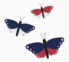USA butterflies   One Piece - Long Sleeve