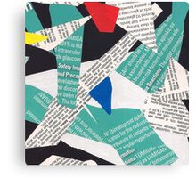 collage abstract multicolor 3232 Canvas Print