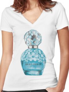 Daisy Dream Women's Fitted V-Neck T-Shirt
