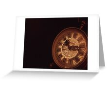 The Old Clock Greeting Card