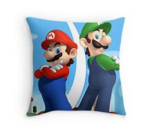 Mario & Luigi Throw Pillow