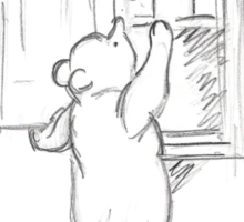 Winnie the Pooh - in the Honey Cupboard Sticker