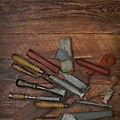 vintage chisels by Val Goretsky