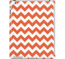 Orange retro Chevron pattern iPad Case/Skin