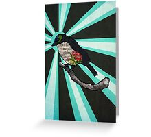 Floral Birdy Greeting Card