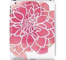 Water Color Dahlias iPad Case/Skin