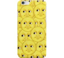 Moon emoji layered small iPhone Case/Skin