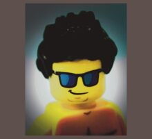Lego me with a slightly blue background One Piece - Short Sleeve