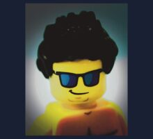 Lego me with a slightly blue background One Piece - Long Sleeve