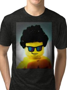 Lego me with a slightly blue background Tri-blend T-Shirt