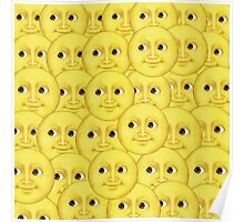 Moon emoji layered small Poster