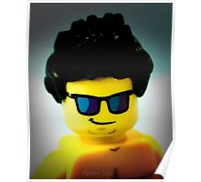 Lego me with a slightly blue background Poster