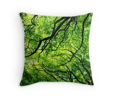 Sun through the Branches Throw Pillow