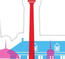 Jakarta skyline pop Sticker