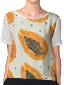 Papayas pattern Chiffon Top