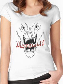Face of the Werewolf Women's Fitted Scoop T-Shirt
