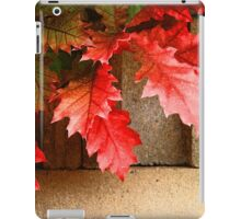 Leaves on Cement Blocks iPad Case/Skin