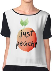 just peachy Chiffon Top