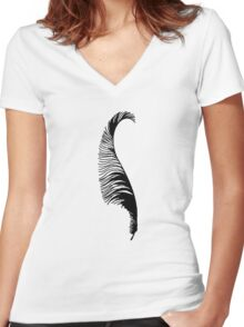 Feather Women's Fitted V-Neck T-Shirt