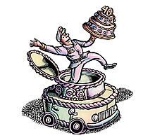 Cake Delivery Man in Cake Car Photographic Print