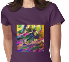 Space Rainbows Surreal Design Womens Fitted T-Shirt