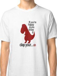 T-Rex Hates To Clap Classic T-Shirt
