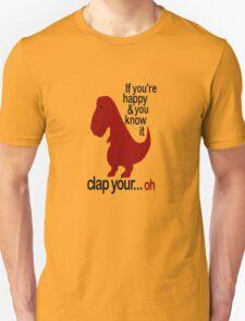 T-Rex Hates To Clap Unisex T-Shirt