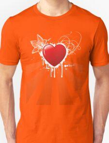 HEART and flower Unisex T-Shirt