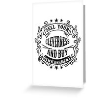Wise and smart Greeting Card
