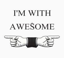 I'M WITH AWESOME One Piece - Long Sleeve