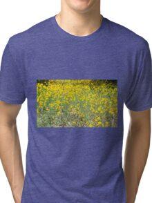 Yellow Flower Field Tri-blend T-Shirt