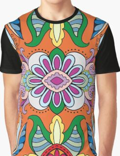 Colorful Boho Floral Pattern Graphic T-Shirt