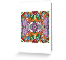 Colorful Boho Floral Pattern Greeting Card
