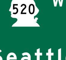 Seattle, Road Sign, WA Sticker