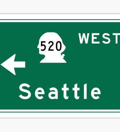 Seattle, Road Sign, WA Sticker