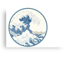 distorted wave Canvas Print