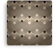 Art Deco Diamond Pattern Canvas Print