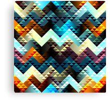Boho Diamond Chevron Pattern Canvas Print