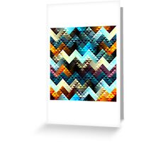 Boho Diamond Chevron Pattern Greeting Card