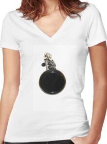 Clarinet Women's Fitted V-Neck T-Shirt