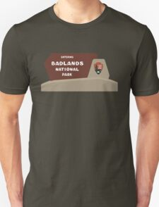 Badlands National Park Sign, South Dakota, USA Unisex T-Shirt