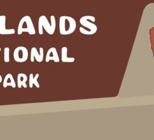 Badlands National Park Sign, South Dakota, USA Sticker