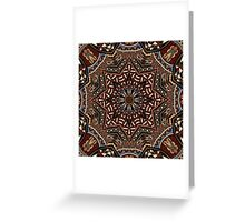 Brown Boho Mandela Pattern Greeting Card