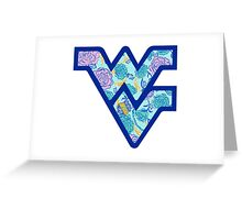 flying dub v alpha xi delta wvu Greeting Card