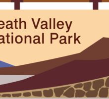 Death Valley National Park Sign, CA & NV, USA Sticker