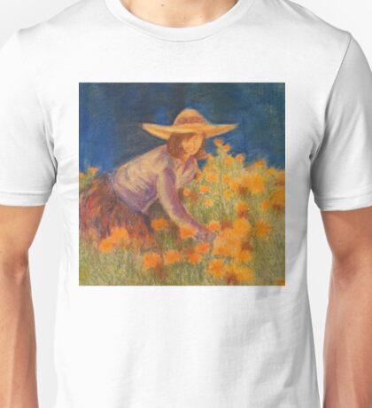 Sharon In Her Garden, 1987 Unisex T-Shirt