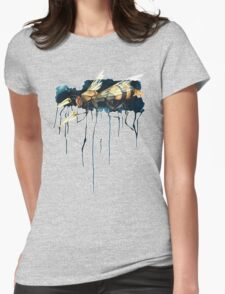 Bee With Drills Womens Fitted T-Shirt
