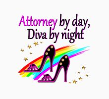 ATTORNEY BY DAY, DIVA BY NIGHT SHOE QUEEN Women's Fitted Scoop T-Shirt